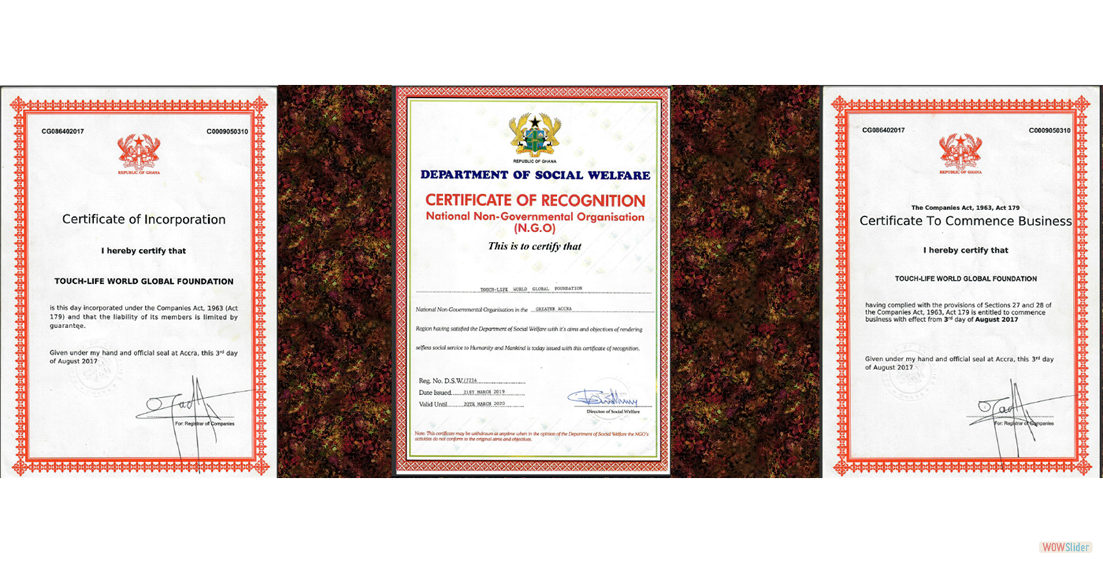 Our Certificate of Incorporation In Ghana